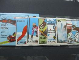 Laos-Calgary Winterl Olympics 1988  SC#842-848  MI# 1060-1065 BL120 - Ete 1988: Séoul