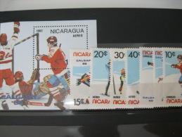 Nicaragua-Calgary Winter Olympics 1988  SC#1580-87 MI#2738-44  BL172 - Summer 1988: Seoul