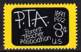 1972 USA Parent Teacher Association 75th Anni Stamp #1463 Blackboard Kid Education - Languages
