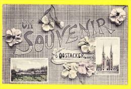 * Oostakker - Oostacker (Gent - Gand) * (Edit L. Collin Alost) Souvenir D'Oostacker Lourdes, Fleurs, église, Rare - Gent