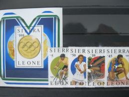 Sierra Leone-Seoul Olympics 1988  SC#874-878 MI#997-1000 BL 61 - Ete 1988: Séoul