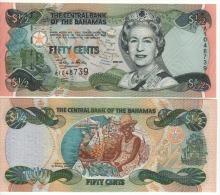 BAHAMAS   1/2 Dollar   P68    Dated 2001    UNC - Bahamas