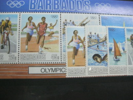 Barbados-Seoul Olympics 1988  SC#727-730a  MI# 701-704 - Zomer 1988: Seoel