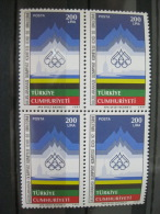 Turkey-Seoul Olympics 1988  SC#2381 MI# 2779 Block Of 4 - Summer 1988: Seoul