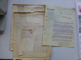 AUTOMOBILE BANVILLE, Paris 1929, Lot De 7 Documents  ; Ref  V08 - France