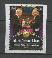 Peru-Mario Vargas LLosa-Premio Nobel De Literatura-sello Circulado - Peru