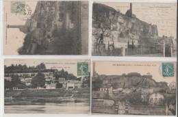 37-ROCHERCORBON-La Lanterne, Les Falaises-écrites- Lot De 4 Cartes Postales Anciennes - 2 SCANS - Cartes Postales
