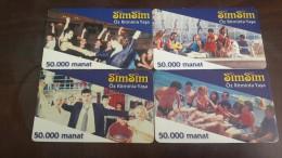 Azerbajian-sim Sim(set1)-50.000manat-used Card+2card Prepiad Free - Azerbaïjan