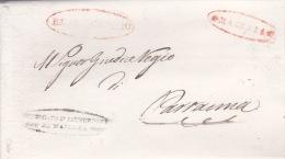 Italy 1849 Letter From Mazara To Partanna - Italy