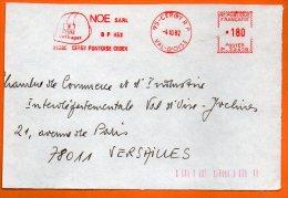 95 CERGY  NOE COFFRAGES 1982  Devant De Lettre N° EMA 3193 - Freistempel