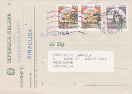 Italy 1994 Electoral Card Sent To Australia - 6. 1946-.. Republic