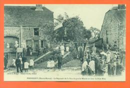 """Dpt  52  Pressigny  """" Le Reposoir De La Rue Augustin Massin Un Jour De Fete Dieu """" - Autres Communes"""