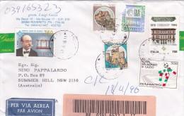 Italy 1996 Registered Mail To Australia Per Lire 6.900 - 6. 1946-.. Republic
