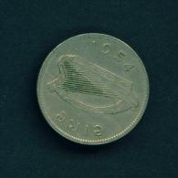 IRELAND  -  1954  1s  Circulated Coin - Ireland