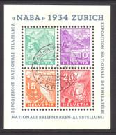 772 - NABA 1934 - Block Gestempelt