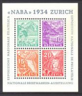 773 - NABA 1934 Block Postfrisch