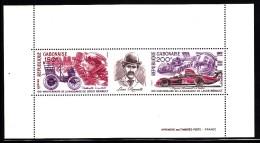 Gabon MNH Scott #393 Souvenir Sheet Of 2 Plus Label Birth Centenary Louis Renault, French Automobile Pioneer - Gabon (1960-...)