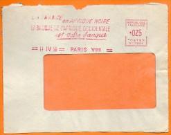 PARIS LA FRANCE EN AFRIQUE NOIRE BANQUE DE L'AFRIQUE OCCIDENTALE  1960  Devant De Lettre N° EMA 3471 - Postmark Collection (Covers)