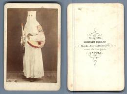 Costumi, Napoli, Giogio Conrad CDV, Vintage Albumen  Carte De Visite,   Tirage Albuminé   6,5x10,5   Circa 187 - Non Classificati