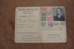 TESSERA TOURING CLUB ITALIANO MILANO ANNO 1921-1928 CON MARCHE_ SPA AUTOMOBILI TORINO - Unclassified