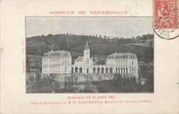 60 DECAZEVILLE - HOSPICE DE DECAZEVILLE INAUGURE LE 14 AOUT 1904 SOUS LA PRESIDENCE DE M MARUJEOULS MINISTRE - Decazeville