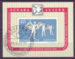 784 - 1951 LUNABA Block Mit ET-Stempel