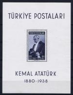 Turkey: Mi Nr Block Nr 1  1939 MNH/**/postfrisch - 1921-... Republic