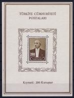 Turkey: Mi Block Nr 2    1943 MNH/**/postfrisch - 1921-... Republic