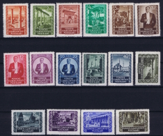 Turkey: Mi 1317 A - 1332 A   Isfla 1676 - 1693 1952 MNH/**/postfrisch - 1921-... République