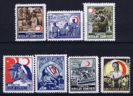 Turkey: Mi Zwangszuschagsmarken Nr 93 - 99    Isfl K 62 - K 68  MNH/**/postfrisch 1944 - 1945 - 1921-... République