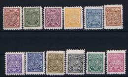 Turkey: Mi Service Nr 1 - 12 Isfla R 1 - R 12   MNH/**/postfrisch 1947 - 1948 - 1921-... Republic