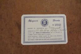 BUONO DI GARANZIA DI 1 ANNO CONTRO OGNI DIFETTO DI FABBRICAZIONE MAGAZZINI STANDA DEL 21-10-1966 - Autres Collections