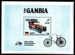 Gambia MNH Scott #628 Souvenir Sheet 12d 1913 Benz 8/20 Automobile - Karl Benz Centenary - Gambie (1965-...)