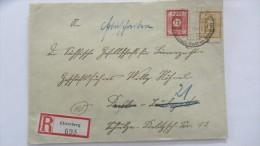 OPD: R-Fern-Brief Mit 30 Pfg OPD Dresden Geschn.gelb In MiF Mit 12 Pf Aus ELSTERBERG (693) Vom  21.2.46 Knr: 55,60 - Sowjetische Zone (SBZ)