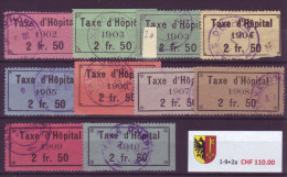 793 - GENÈVE - Fiskalmarken Taxe D'Hôpital - Fiscaux