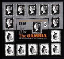 Gambia MNH Scott #1003 Souvenir Sheet 15d Penny Black 150th Anniversary - Gambie (1965-...)