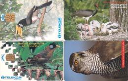 4 Télécartes Oiseau Lot4 - Oiseaux