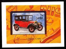 Gambia MNH Scott #1748 Souvenir Sheet 25d Mitsubishi Model A - Classic Cars - Gambie (1965-...)