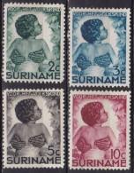 SURINAME 1936 Kinderzegels Complete Ongestempelde Serie NVPH 179 / 182 - Suriname ... - 1975