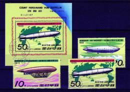 Fleurus N1 Norge LZ127 Graf Zeppelin 1979 Korea 1816/8+ Block 55 O 2€ Luftfahrt Hojas Hb Bloc Air-technic Sheet Bf Corea - Korea, North