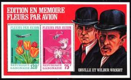 Gabun 1971  MiNr. 429/ 430 Im Block 21 A  **/ Mnh ; Blumen Durch Flugdienst: Orchideen, Tulpen - Gabun (1960-...)