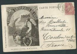 Liège. Exposition Universelle 1905. Les Affiches. 1er Prix, M.E. Dupuis. 2 Scans - Liège