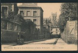 DIEPPE - Rue De La Sous Préfecture Et Eglise Saint Jacques - Dieppe