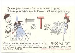 """Buvard PHOSPAL """"G"""" Procédés Pechiney Phospal Est Un Engrais (à Vous De Décoder Le Rébus) - Agriculture"""