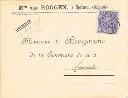 16509. Carta SPRIMONT (belgien) 1897, Exposition - 1894-1896 Exposiciones