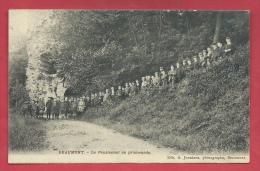 Beaumont -Le Pensionnat En Promenade - Groupe D'élèves  - Edit : A. Jouniaux, Beaumont - 1910 ( Voir Verso ) - Beaumont