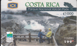 COSTA RICA - Volcano, Valle Central/Alajuela, ICE Tel prepaid card C 1000, 04/06, used