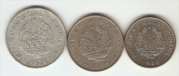 3 Monnaies Roumanie: 1, 2, 3  Lei - Roumanie