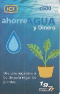 COSTA RICA - Save Water, Ahorre Agua, ICE Tel prepaid card C 500, 04/06, used