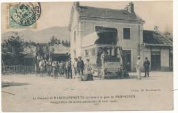 PRUNIERES - Le Courrier de Barcelonnette, Inauguration du Service Automobile